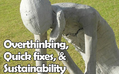 Overthinkers, Quick fixes, and Sustainability